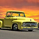 1956 Ford F100 Custom Pick-Up Truck VII by DaveKoontz