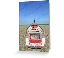 Pasted Journeys - Cley Beach  Greeting Card