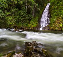 Eureka Falls and Silverhope Creek by Michael Russell