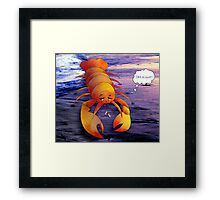 A Taste Of Regret Along The Western Sea Framed Print