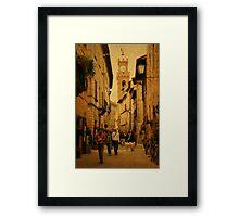 Main Street-Tuscany Framed Print