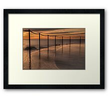 Bronte Beach rock pool Framed Print