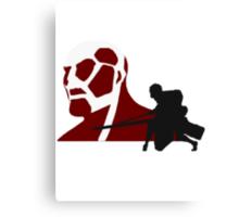 Eren Fighting Armored Titan Canvas Print