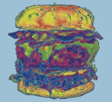 Neon Bacon Cheeseburger by Ashley Peppenger