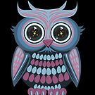 Star Eye Owl - Blue Purple 2 by Adamzworld