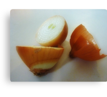 Shapes & colours of an Onion Canvas Print