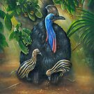 Cassowary In The Morning Light by owen  pointon