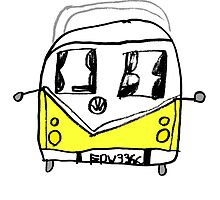 VW Camper Kids Yellow by splashgti