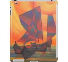 Red Sails in the Sunset Cubist Junk Abstract iPad Case/Skin