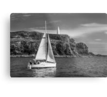 Sailing past the Baltimore Beacon Metal Print