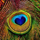 Peacock Feather Heart Eye by PhotographyTK