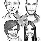 Caricature - X-Factor Judges by Jan Szymczuk