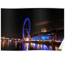 London Eye on night 2 Poster