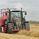 Straw Baling - Big Style by Barrie Woodward