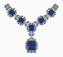'Look at Me' Sapphire Necklace by eldonshorey