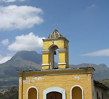 Old Stone Church In Cotacachi Ecuador by rhamm