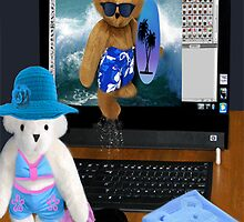 (✿◠‿◠) BEARS SURFING THE INTERNET PICTURE/CARD (✿◠‿◠)  by ✿✿ Bonita ✿✿ ђєℓℓσ