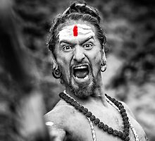 Shouting Sadhu by visualspectrum