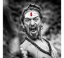 Shouting Sadhu Photographic Print