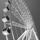 Ferris Wheel - Black and White by Kylee Cole