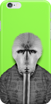 Monkey Face iPhone Cover by bbbboom