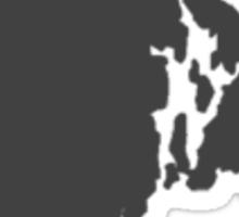Rhode Island Over heart Sticker