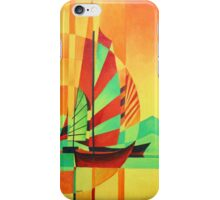 Chinese Junks Sail to Shore iPhone Case/Skin