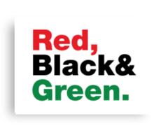Red, Black & Green. Canvas Print