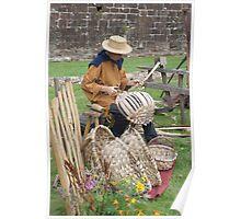 Medieval Basket Weaver Poster