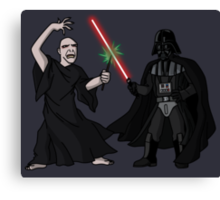 Darth Vader vs Lord Voldemort Canvas Print