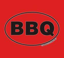 BBQ Oval Sticker Kids Clothes