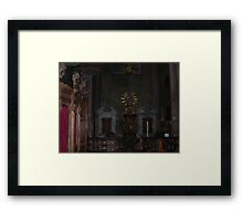 Cathedral - interior - 2 - VETRINA RB EXPLORE  10 ottobre 2013 - Framed Print