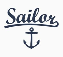 Sailor Anchor Navy by theshirtshops