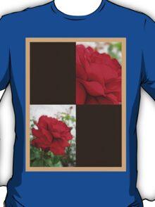 Red Rose Edges Blank Q3F0 T-Shirt