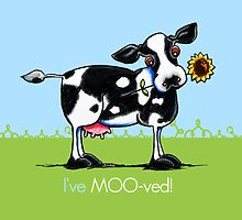I've Moved Cow New Address Announcement by offleashart