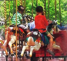 Carnivals - Friends on the Merry-Go-Round by Susan Savad