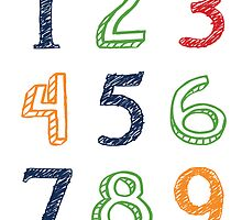 Numbers 123 Poster by friedmangallery