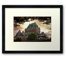 Chateau Frontenac at Sunset Framed Print