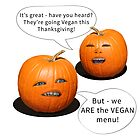 Pumpkin Heads Vegan Thanksgiving T-Shirt by CarolV