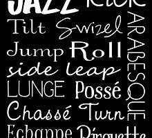Jazz Dance Subway Art  Poster by friedmangallery