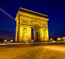 Arc De Triomphe iPad case by John Velocci