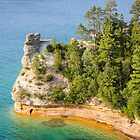 Castle Rock - Pictured Rocks National Lakeshore by Robert Kelch, M.D.