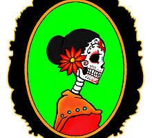 Sugar Skull Lady by ZombieRodent