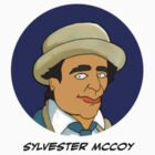 Doctor Who Stickers - Sylvester McCoy. by Donna Huntriss