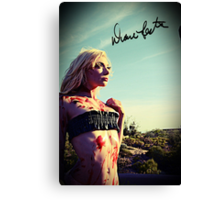 Bloody Beauty  Canvas Print