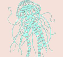Cute Pastel Jellyfish  by WeAreGolden