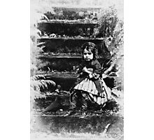 Girl on the steps Photographic Print