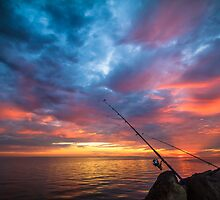 A Spot of Sunrise Fishing by Julie Begg