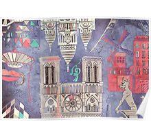 Paris in Violet Poster