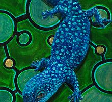 Blue Spotted Gecko on Spots by Arabidopsis